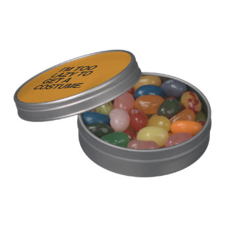 I M TOO LAZY TO GET A COSTUME - Halloween - png Jelly Belly Tins