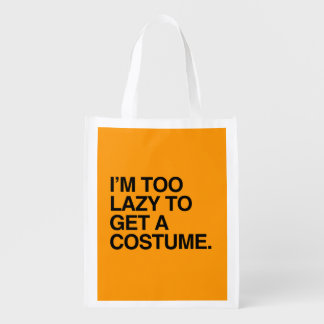 I M TOO LAZY TO GET A COSTUME - Halloween - png Market Totes