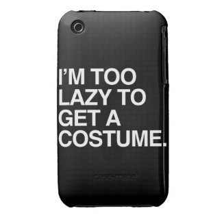 I M TOO LAZY TO GET A COSTUME iPhone 3 CASES