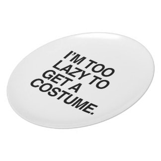 I M TOO LAZY TO GET A COSTUME PARTY PLATES