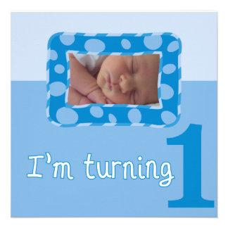 I m Turning One Birthday Party Invitation