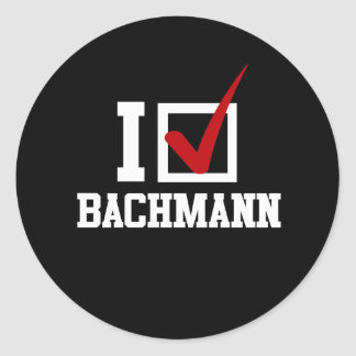 I M VOTING FOR MICHELE BACHMANN white Stickers
