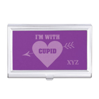 I'M WITH CUPID business card holder
