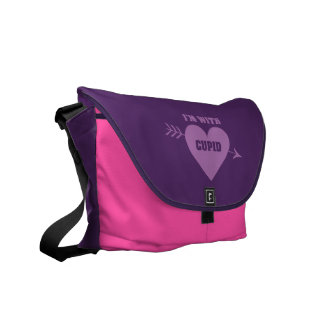 I'M WITH CUPID messenger bag