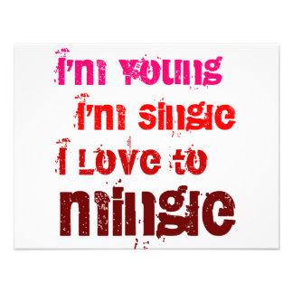 I m Young I m Single I Love To Mingle Custom Invitations