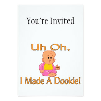I Made A Dookie 13 Cm X 18 Cm Invitation Card