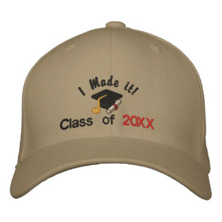 I Made It Grad - Customize Embroidered Hat