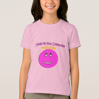 I Made My First Communion Big Pink Smiley T-Shirt
