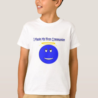 I Made My First Communion Blue Smiley T-Shirt
