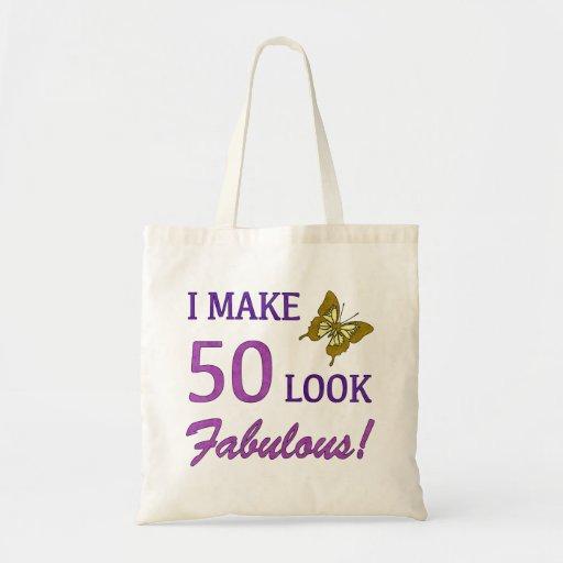 I Make 50 Look Fabulous! Canvas Bags