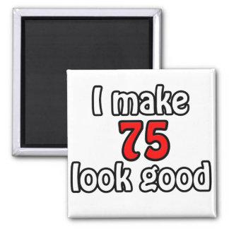 I make 75 garlic good square magnet