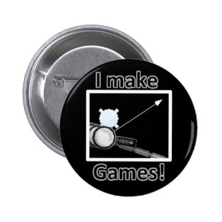 """I make games!"" Screen(Stick Wires 3) - Button Pin"