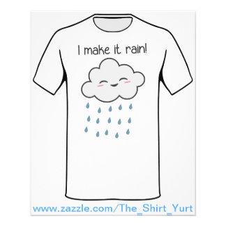 I Make It Rain Cute Storm Cloud 11.5 Cm X 14 Cm Flyer