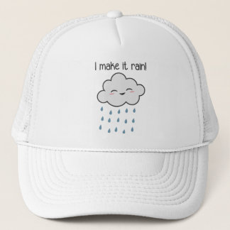 I Make It Rain Cute Storm Cloud Trucker Hat