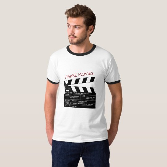 I Make Movies Customisable Clapperboard T-Shirt