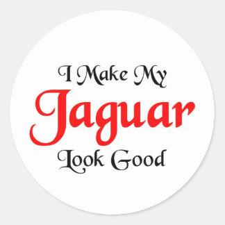 I make my Jaguar look good Classic Round Sticker