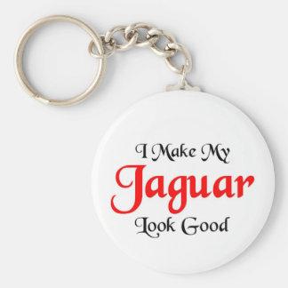I make my Jaguar look good Key Ring