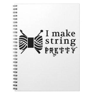 I Make String Pretty ♥ Crafts & Yarn Spiral Notebook