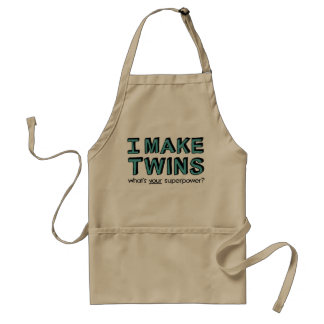 I MAKE TWINS, what's your superpower? Standard Apron