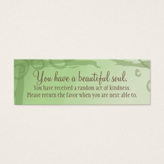 I Manifest Abundance By Being Grateful Affirmation Mini Business Card