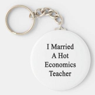 I Married A Hot Economics Teacher Key Chains