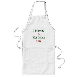 I Married A Hot Italian Guy Long Apron