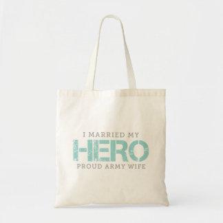 I Married My Hero - Army Wife Budget Tote Bag