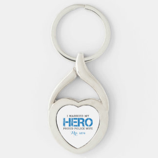 I Married My Hero - Police Wife Key Ring