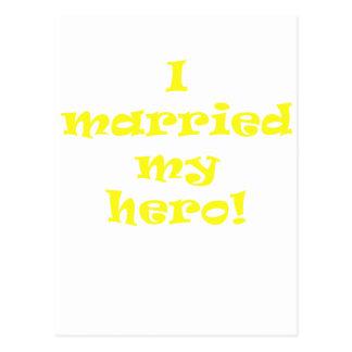 I Married My Hero Postcard
