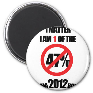I matter, you matter, let everyone know it! 6 cm round magnet