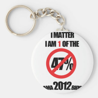 I matter, you matter, let everyone know it! basic round button key ring