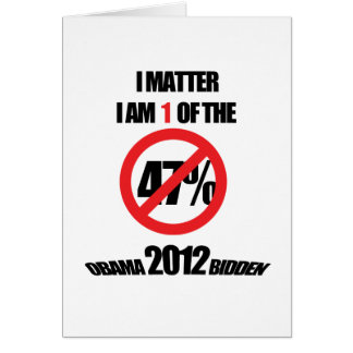 I matter, you matter, let everyone know it! greeting card
