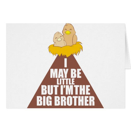 I may be little but I am the Big Brother Cards