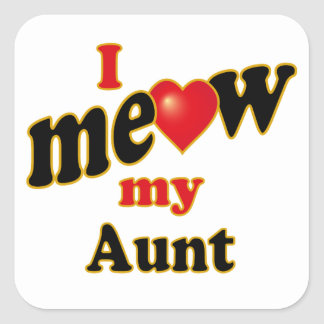 I Meow My Aunt Stickers