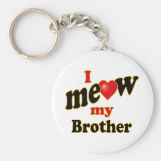 I Meow My Brother Basic Round Button Key Ring