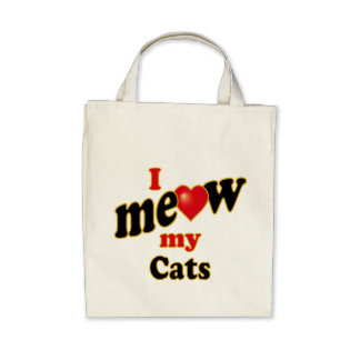 I Meow My Cats Bag