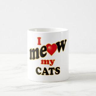 I Meow My Cats Coffee Mug