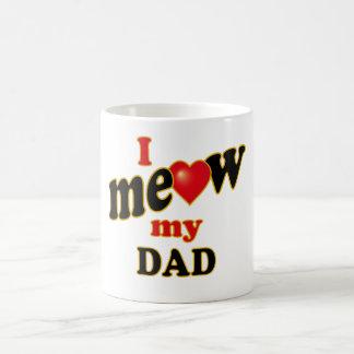 I Meow My Dad Basic White Mug