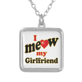 I Meow My Girlfriend Square Pendant Necklace