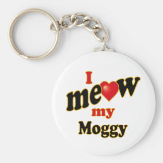 I Meow My Moggy Basic Round Button Key Ring