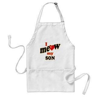 I Meow My Son Standard Apron
