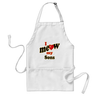 I Meow My Sons Standard Apron