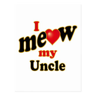 I Meow My Uncle Postcard
