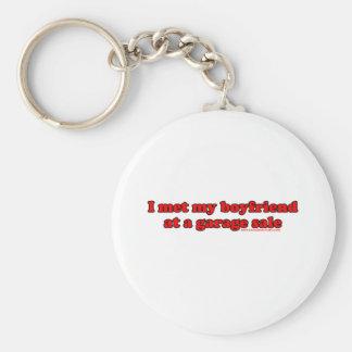 I Met My Boyfriend At A Garage Sale Basic Round Button Key Ring