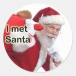 I Met Santa Round Sticker