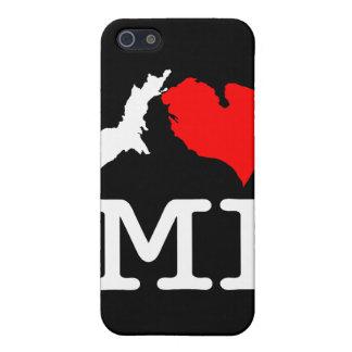 I ♥ MI (I heart Michigan) iPod/iPhone case (dark) iPhone 5 Covers