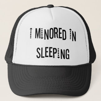 I Minored In Sleeping Trucker Hat