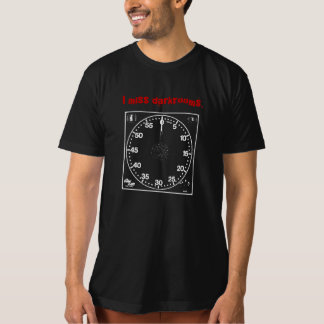 """I miss darkrooms"" with timer T-Shirt"