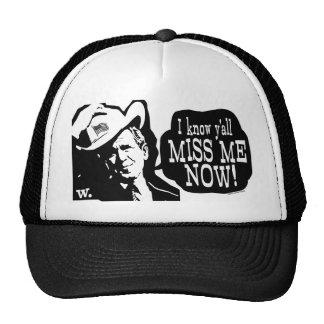 I Miss George W. Bush Anti Obama Gear Mesh Hats