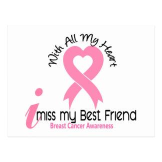 I Miss My Best Friend Breast Cancer Postcard